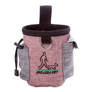 Dog Bag For Treat Training Waterproof Food Storage Bag Holder Durable Pouch Waist Feed Bundle Pocket Pet Carrier Dog Supplies