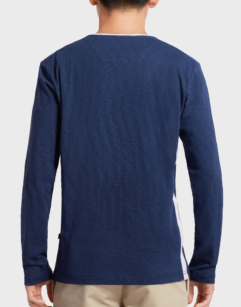 Navy Blue Long-sleeves T-shirt