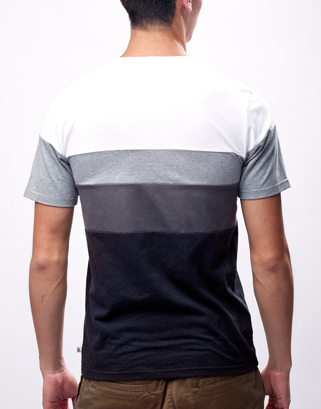 Grey Colorblock Printed Graphic T-Shirt