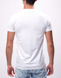 White Printed Logo Graphic T-Shirt