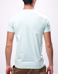Light Turquoise Printed Logo Graphic T-Shirt