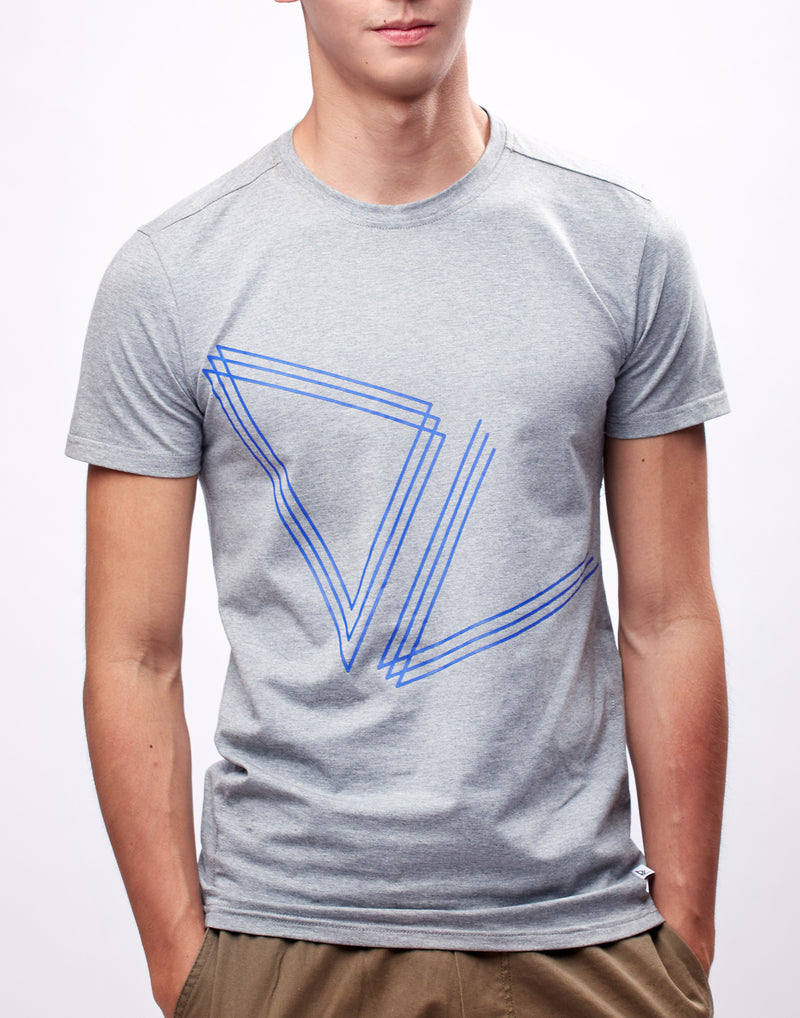 Grey Printed Logo Graphic T-Shirt