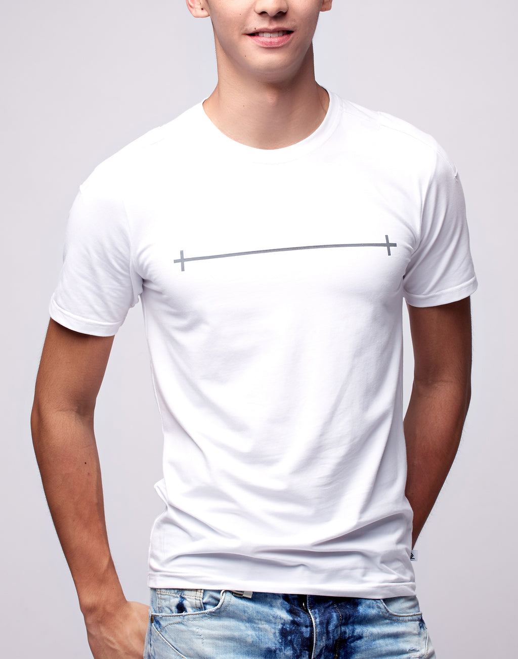 White Printed Graphic T-Shirt