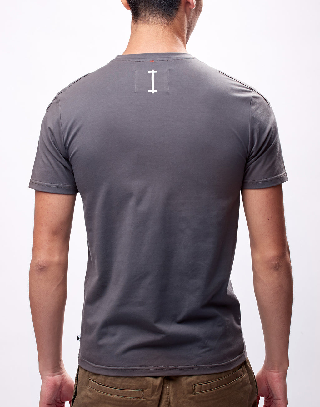 Dark Grey Printed Graphic T-Shirt