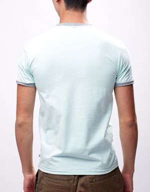 Light Turquoise Printed Graphic T-Shirt