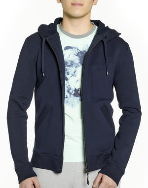 Navy Blue Zip-up Hoodie