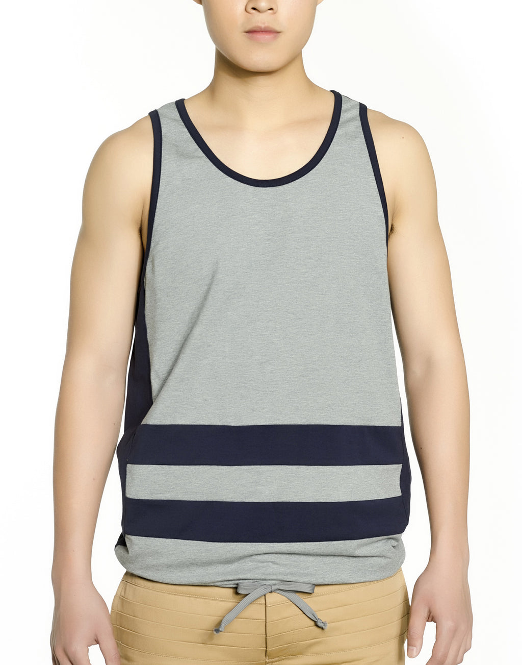 Grey Colorblock Tank Top