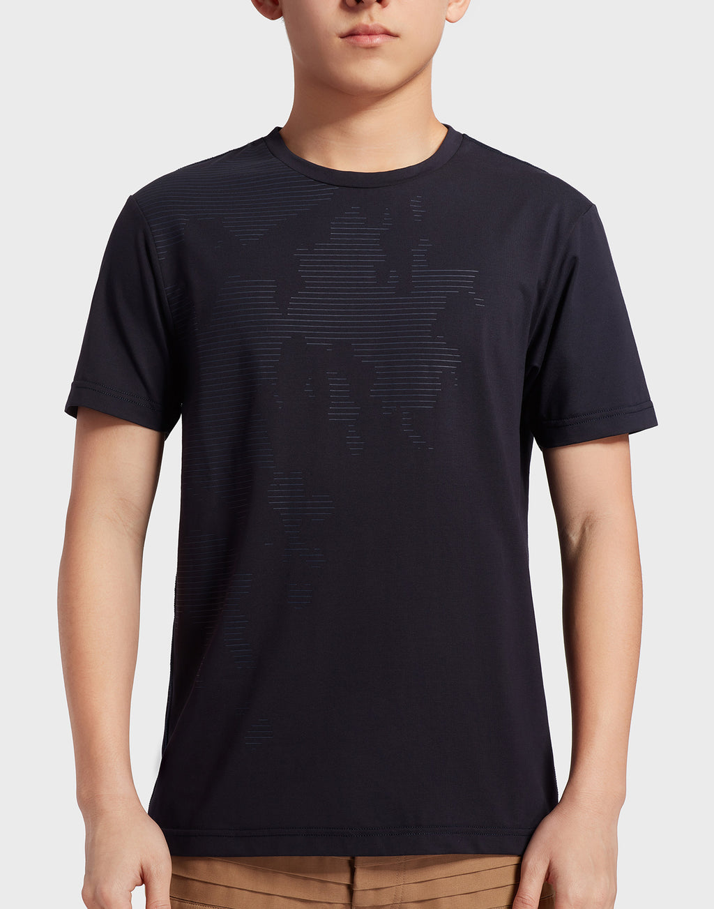Navy Blue Printed Graphic T-Shirt