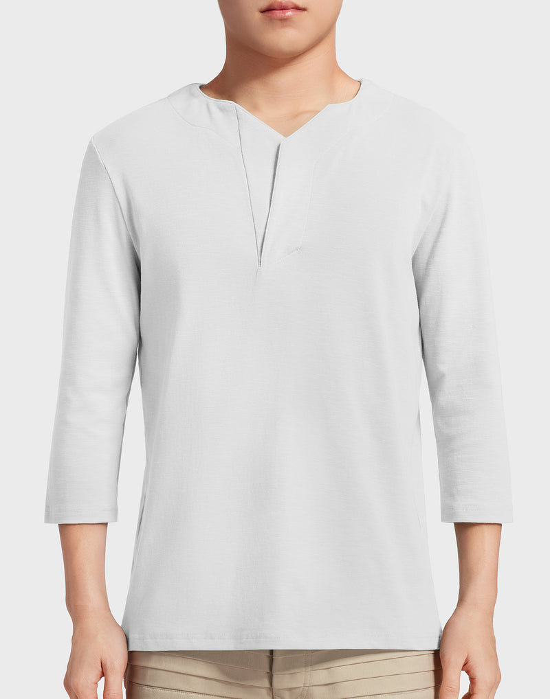 White Henley T-shirt