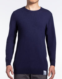 Navy Blue Crewneck Sweater