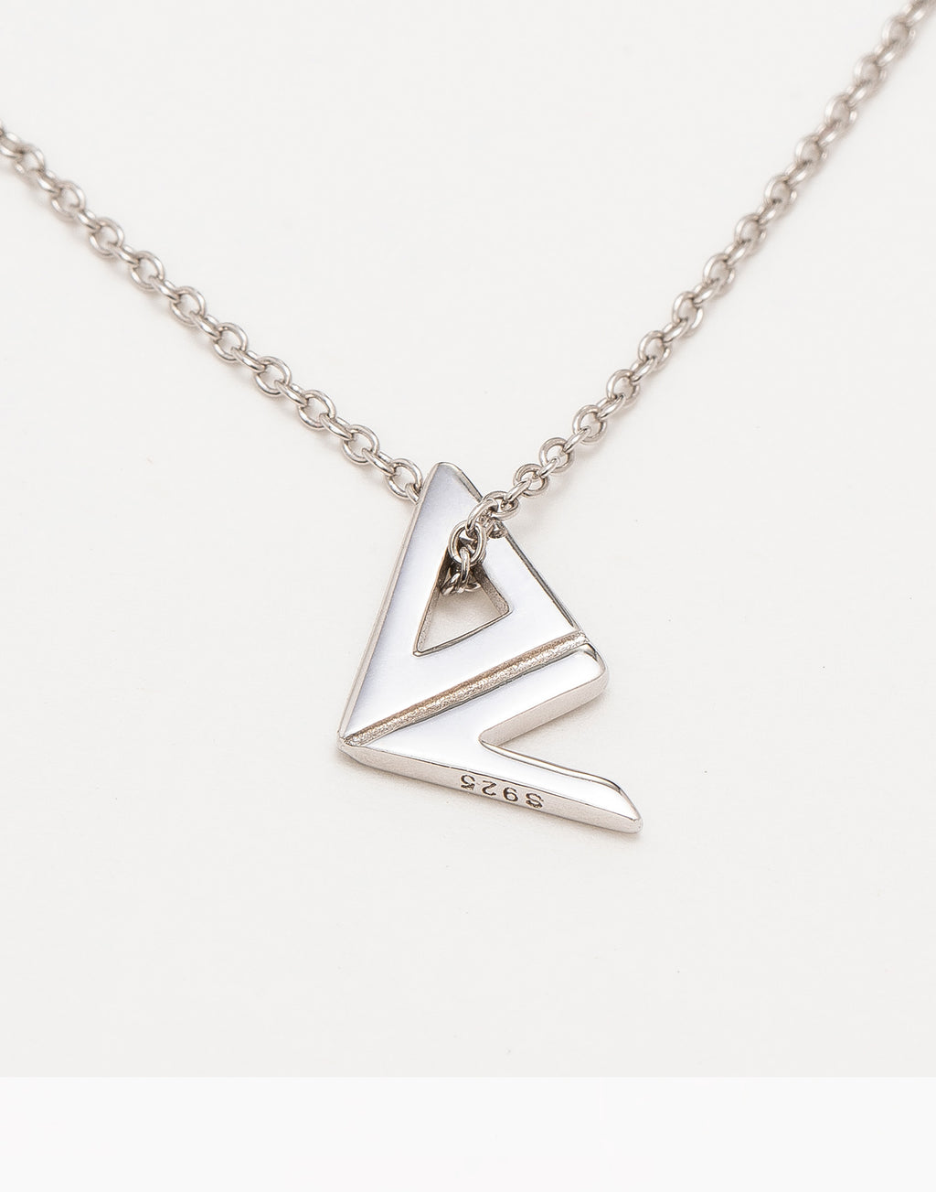 Sterling Silver Logo Necklace