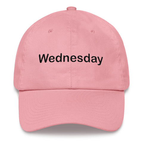 """On Wednesday We Wear Pink"" Breast Cancer Awareness Dad Hat"