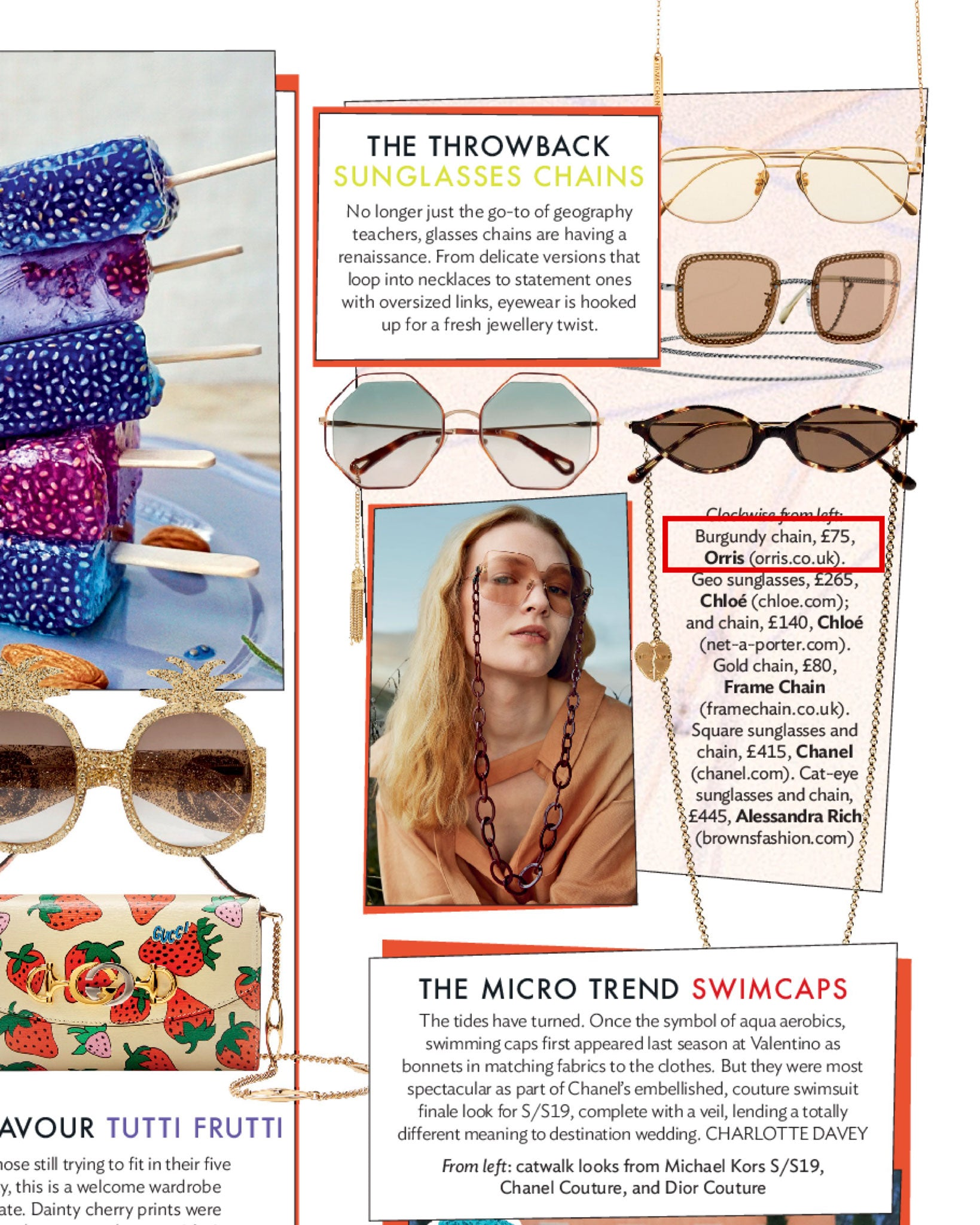 """Glasses chains are having a renaissance ""Glad to see ORRIS glasses chain is featured in Condé Nast Traveller UK"
