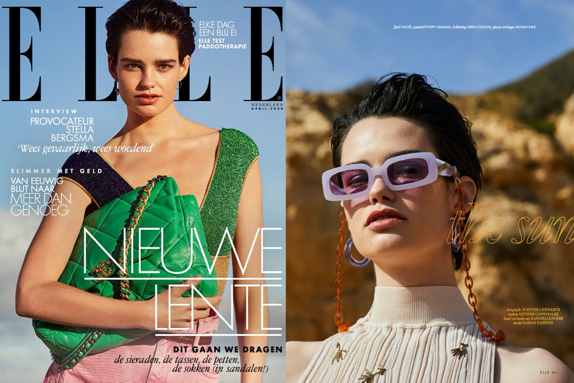 orris london glasses chain featured in ELLE Netherlands