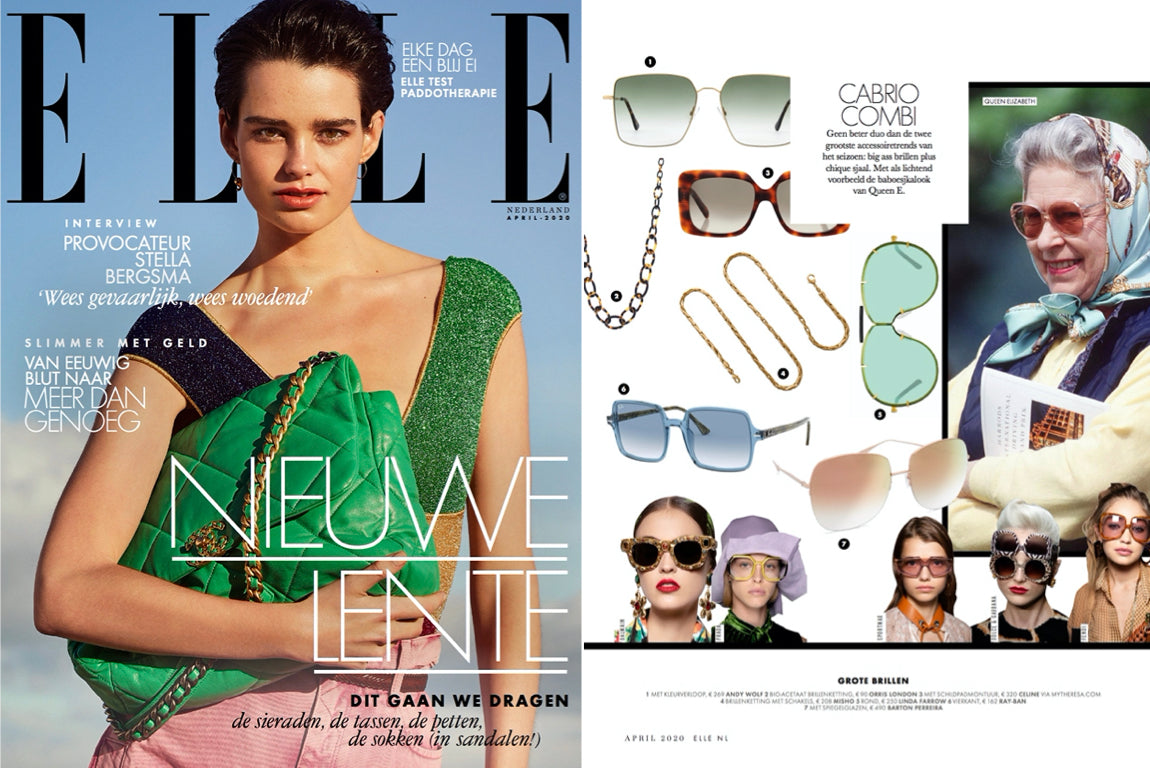 orris london glasses chain featured on ELLE NEITHERLANDS