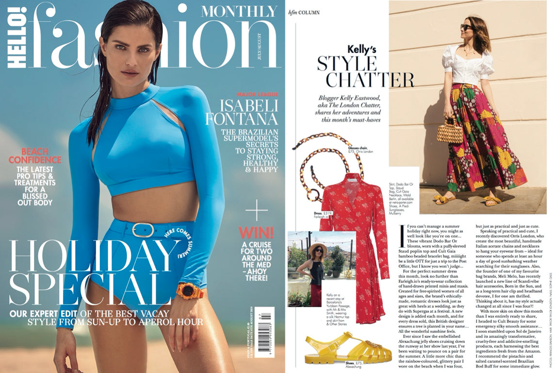 ORRIS LONDON HELLO! FASHION JULY/AUG 2019