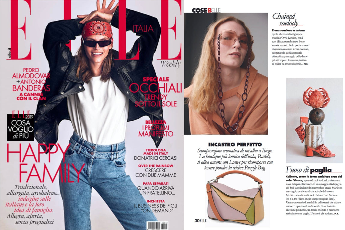 ORRIS LONDON GLASSES CHAIN ELLE ITALY JUNE 2019