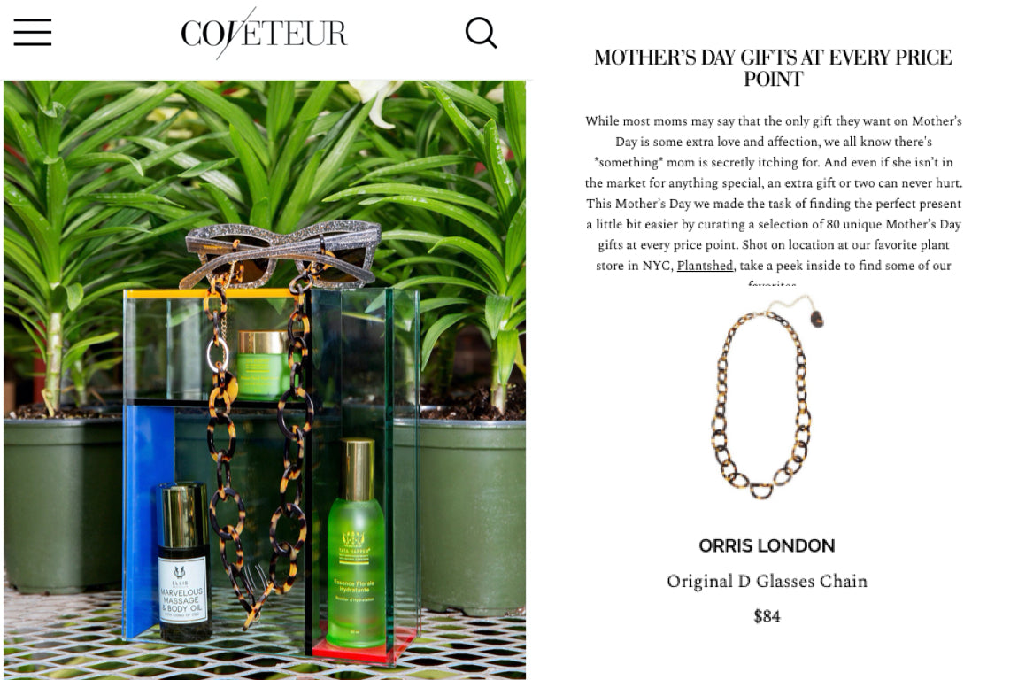 ORRIS LONDON MOTHERS DAY COVETEUR.COM MAY 2019
