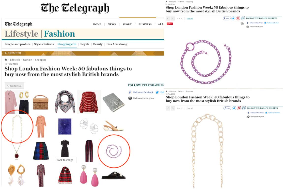 ORRIS LONDON FASHION WEEK BEST OF BRITISH THE TELEGRAPH 15 FEB 2019