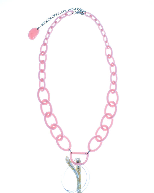 Original D Necklace | Bubble Gum Pink | Glasses Necklace
