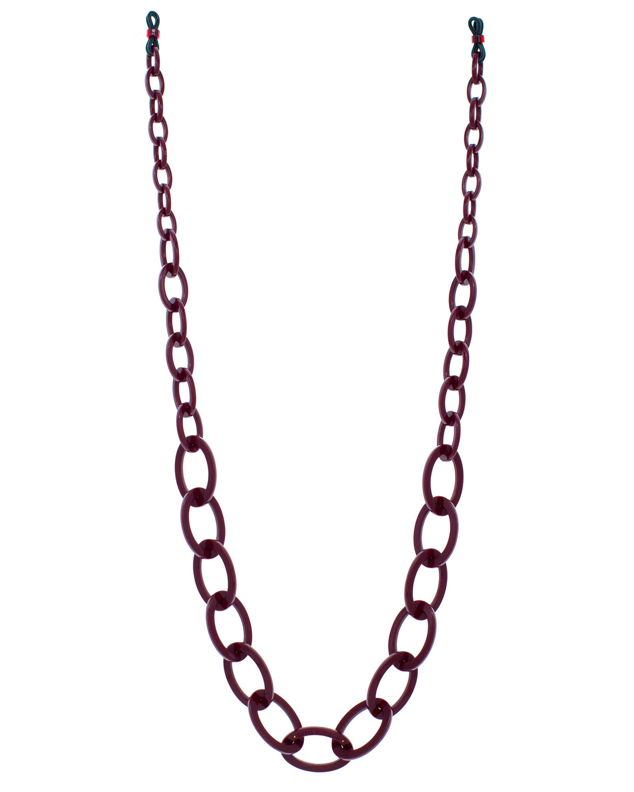 Smiley Chain | Burgundy Red | Glasses Chain | RASSIN SHEN