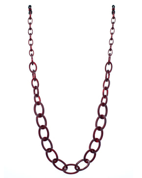 Smiley Chain | Burgundy Mineral | Glasses Chain
