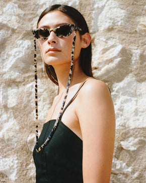 Spaghetti | Bio-Acetate Light Tortoiseshell | Glasses Chain