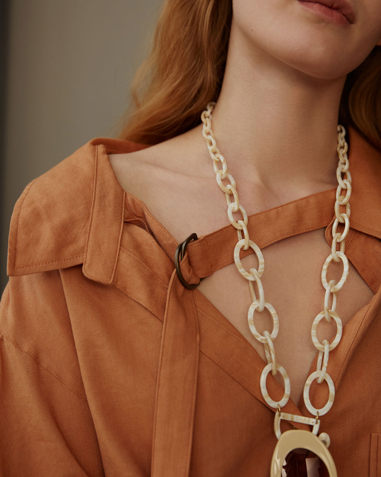 Original D Necklace | Mother of Pearl | Glasses Chain | RASSIN SHEN