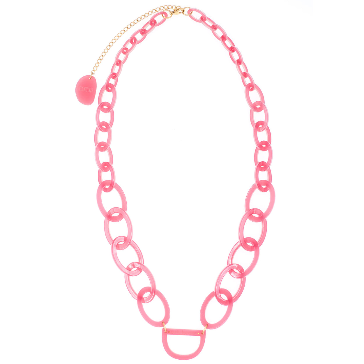 Original D Necklace | Honeysuckle Pink | Glasses Chain | RASSIN & SHEN