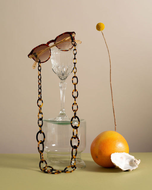 orris london Smiley Chain Tortoiseshell Glasses Chain