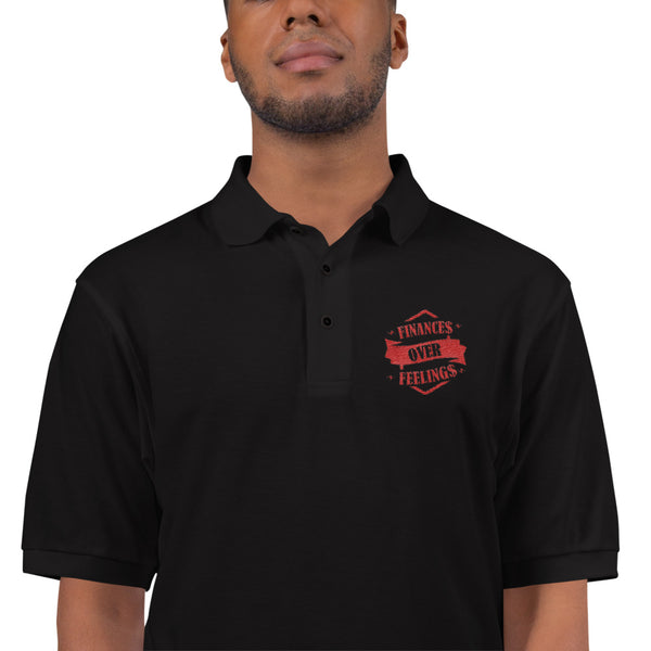 Embroidered Polo Shirt/ Finance Feeling