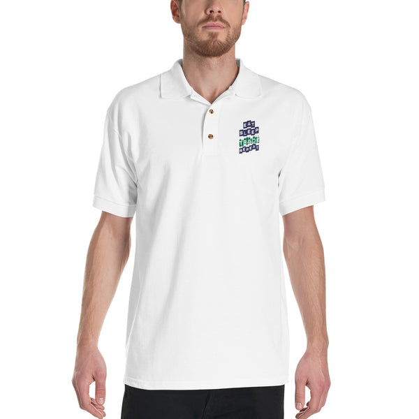 Embroidered Polo Shirt - Eat Sleep Trade Repeat