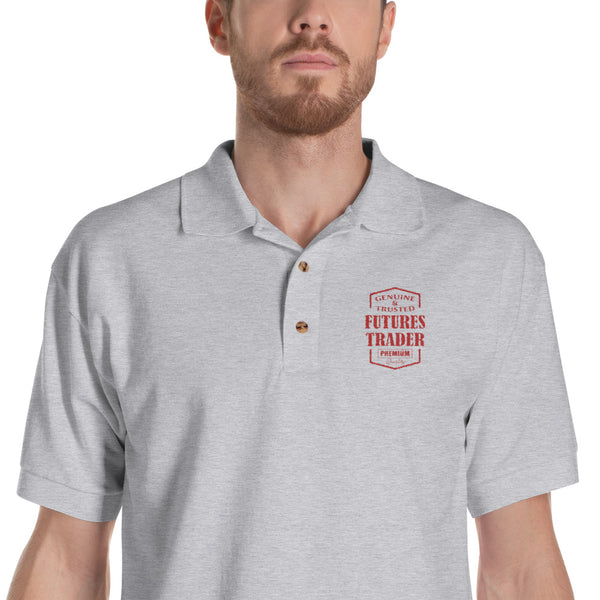 Embroidered Polo Shirt/ Futures Trader