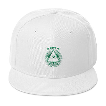 Snapback Hat / In Crypto We Trust