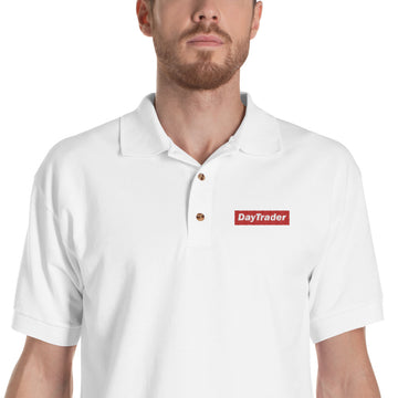 Embroidered Polo Shirt/ Day Trader