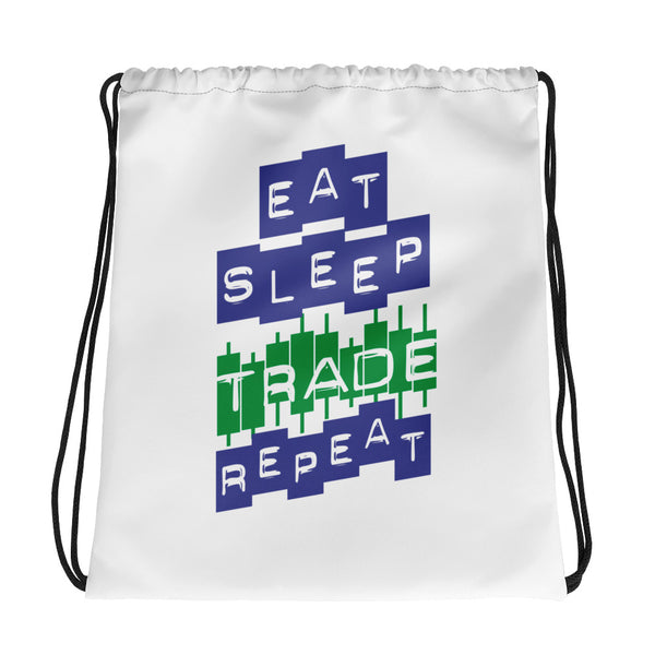 Drawstring bag - Eat Sleep Trade Repeat