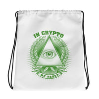 Drawstring bag - In Crypto We Trust