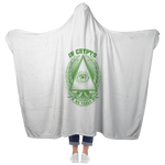Hooded Blanket - In Crypto We Trust