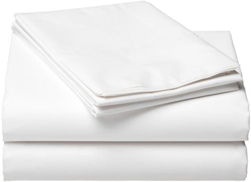 Lux Collection White Flat Sheet