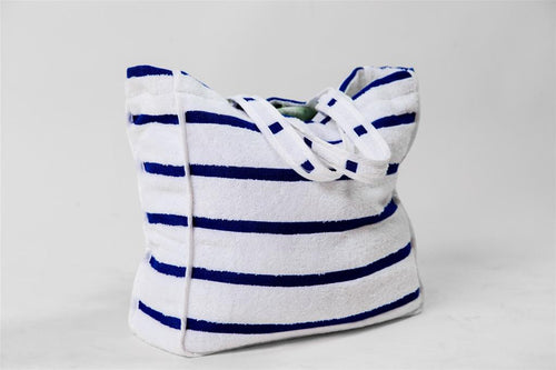 Blue Striped Terry Bag