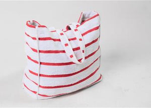 Hot Pink Striped Terry Bag