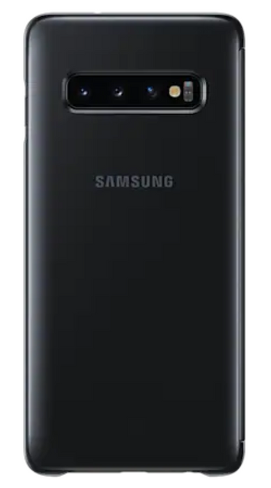 Samsung S10 Smart Clear View Cover-Black (EF-ZG973CBEGIN)