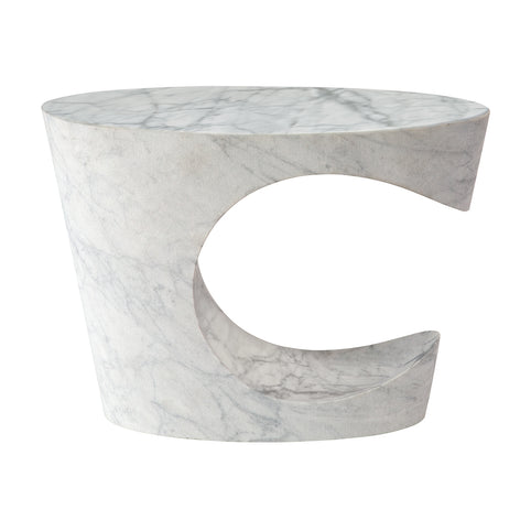 C Table - Carrara Marble