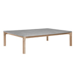Franck Rectangular Coffee Table with Stone Top