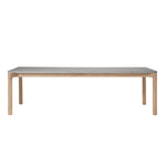 "Franck 97.5"" Rectangular Dining Table with Stone Top"