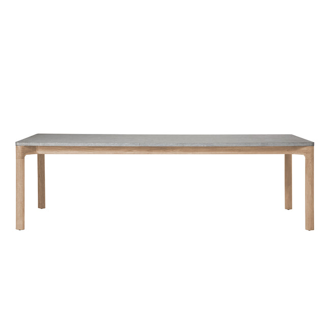 Franck Rectangular Dining Table with Stone Top