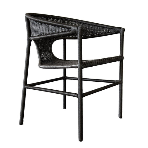 Sag Harbor Dining Arm Chair - Black