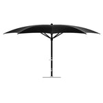 16' Crescent Umbrella - Black
