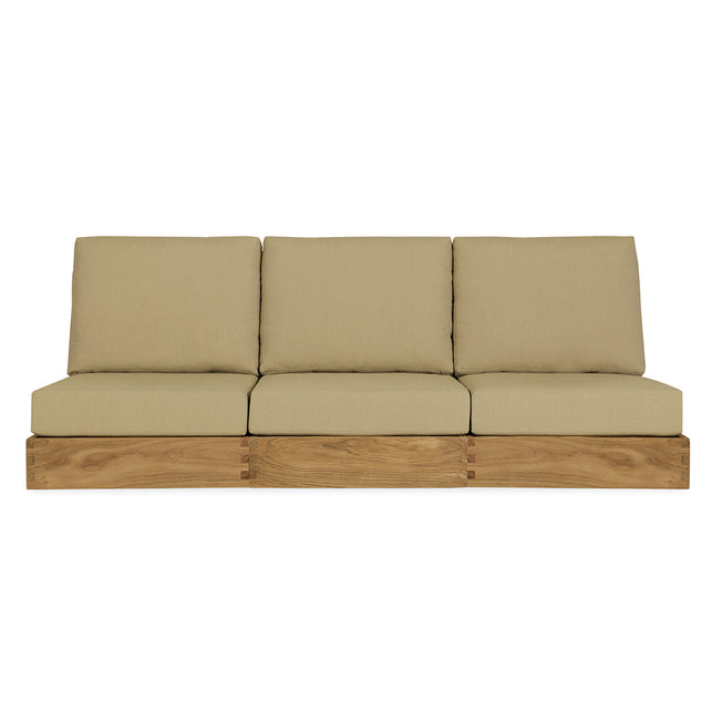 Poolside Armless Three-Seat Sofa