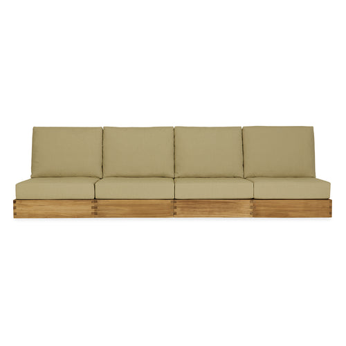 Poolside Armless Four-Seat Sofa